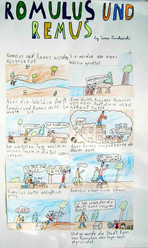 kunstunterricht grundschule comics